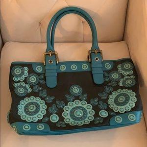 Isabel Fiore teal & black bag